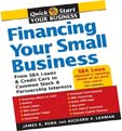 image of book financing your small business